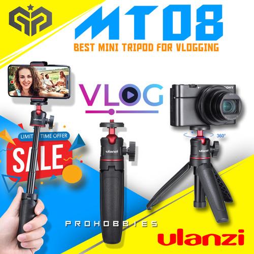 Foto Produk ULANZI MT-08 Mini Extension Pole Tripod Mirrorless & Smartphone VLOG - Hitam dari Pro Hobbies