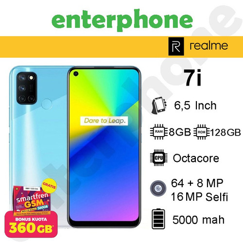 Foto Produk Realme 7i 8/128 Ram 8Gb Rom 128Gb - Hijau dari enterphone2