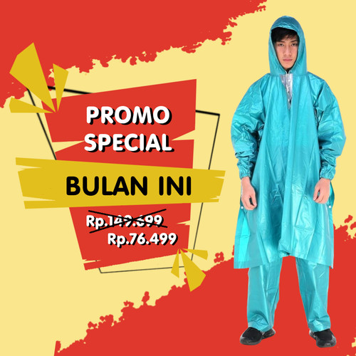 Foto Produk Jas Hujan Poncho Lengan Celana Plevia NAUTILUS 734 Motor batman ponco - Merah Muda dari Langit Biru