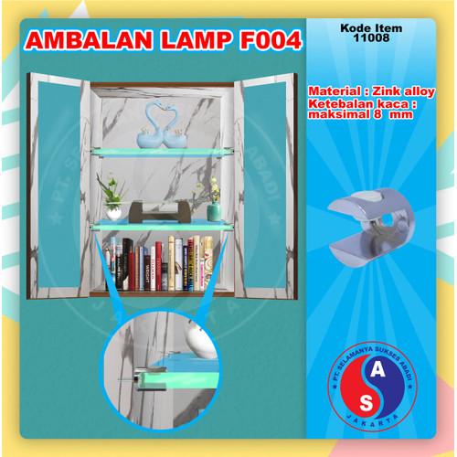 Foto Produk Ambalan Kaca Lamp F004 WINSTON Ambalan Jepit Kaca Model Sekrup Chrome dari WINSTON SUKSES ABADI