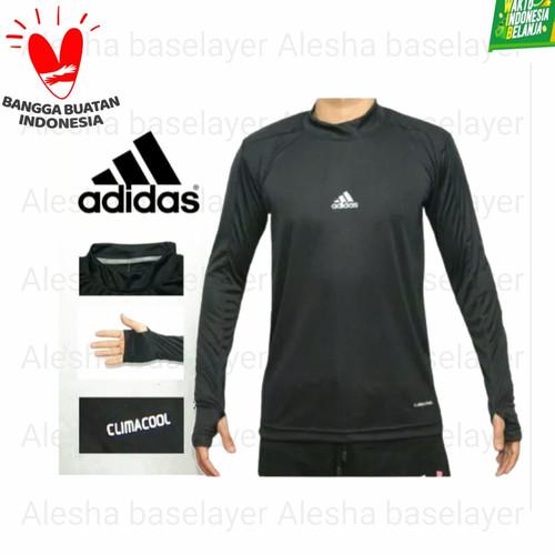 Foto Produk Baju manset panjang nike adidas / kaos bola panjang / manset bola pria - Hitam, fit L dari alesha baselayer