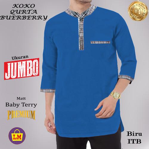 Foto Produk LM 08941 Baju Muslim Pria Koko Qurta Bruberry XXXL TERMURAH TERLARIS - Biru ITB dari Lobby Mode
