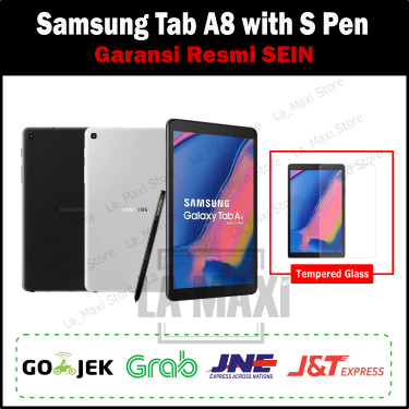 Foto Produk Samsung Galaxy Tab A 8 Tab A8 with S Pen 2019 3/32GB Garansi SEIN - Abu-abu dari La_Maxi Store