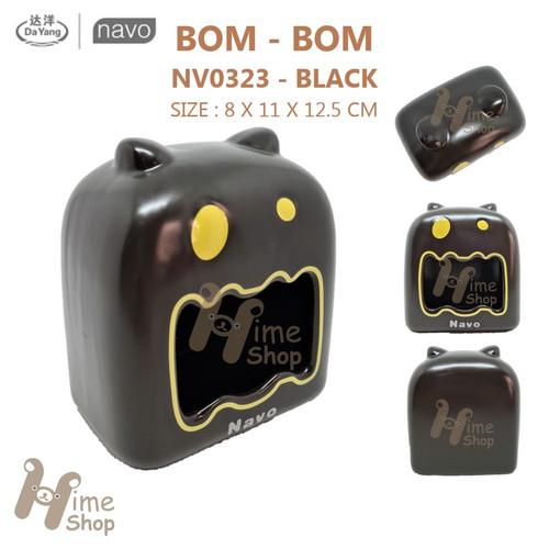 Foto Produk DAYANG CERAMIC HAMSTER HOUSE NV0323 BOM BOM BLACK BROWN RUMAH KERAMIK - BLACK dari Hime petshop