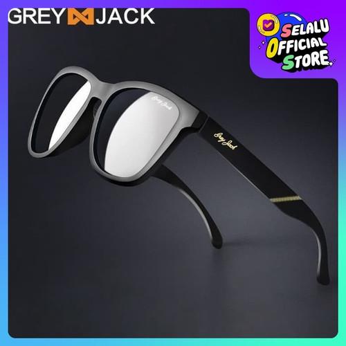Foto Produk Kacamata Hitam/ Kacamata Pria dan Wanita/ Kacamata Polarized/1227 - black glossy dari Grey Jack