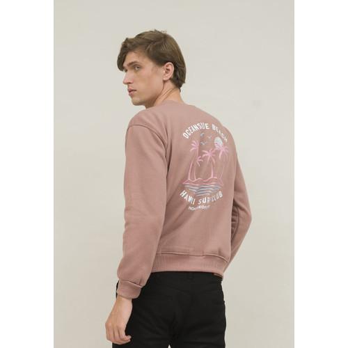 Foto Produk crewneck sweater basic houseofcuff unisex dusty pink hawaii dari House of Cuff