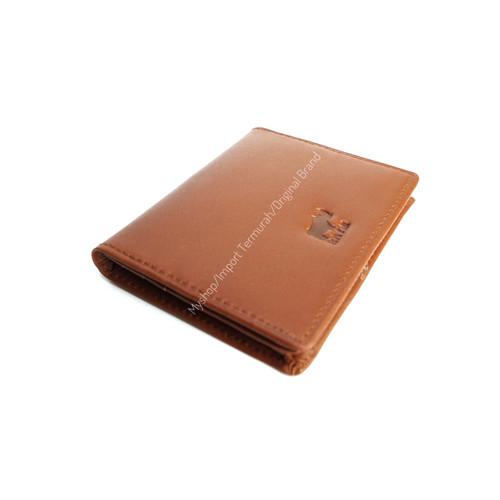 Foto Produk Dompet Kartu Kulit Asli Pria Wanita Card Holder RHYM 23 Brown - Cokelat Muda dari -myshop