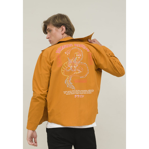 Foto Produk jaket pria parka mustard trucker dragon jacket unisex houseofcuff dari House of Cuff