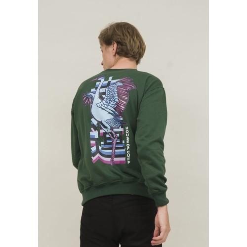 Foto Produk crewneck basic sweater japan bird hijau unisex outerwear houseofcuff dari House of Cuff