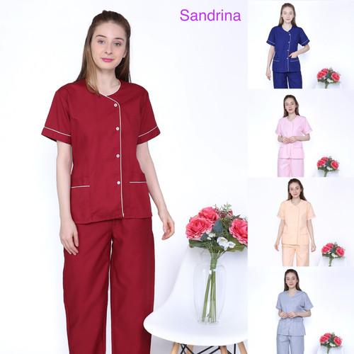 Foto Produk Baju seragam suster/ seragam baby sitter/ seragam nanny (piyama) - Biru, S dari KidsGallery