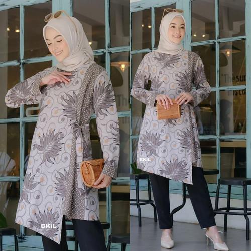 Foto Produk atasan wanita tunik batik modern atasan kantor batik seragam katun - M dari Batik 3 Putri