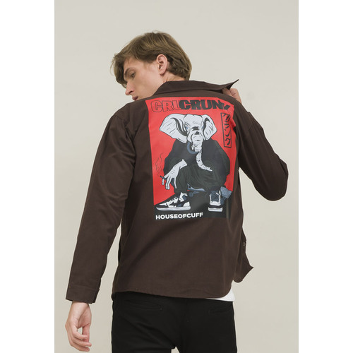 Foto Produk Jaket parka pria coklat kanvas trucker jacket CRUNK houseofcuff dari House of Cuff