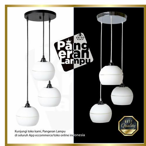 Foto Produk Lampu Gantung / Lampu Hias Moonlight isi 3 lengkap 1set Termurah dari PANGERAN LAMPU