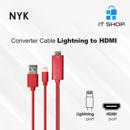 Foto Produk NYK Converter Cable Lightning to HDMI dari IT-SHOP-ONLINE