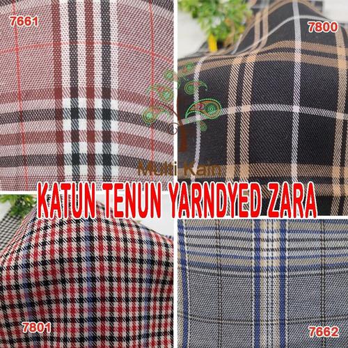 Foto Produk bahan kain katun tenun yarndyed kotak salur basik basic meter grosir - cork/warnalain dari multi kain