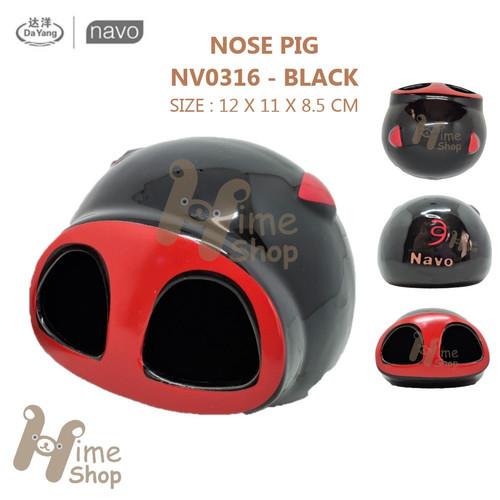 Foto Produk DAYANG CERAMIC HAMSTER HOUSE NV0316 NOSE PIG RUMAH KERAMIK COLD SUMMER - BLACK dari Hime petshop