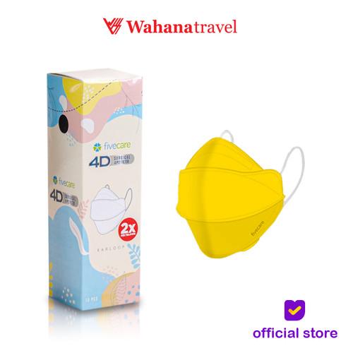 Foto Produk Masker Medis fivecare 4D Surgical-4PLY filter 4 Lapis - Kuning dari Wahana Tour & Travel