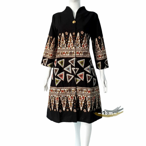 Foto Produk tunik batik solo lapis tricot dari Batik Sri
