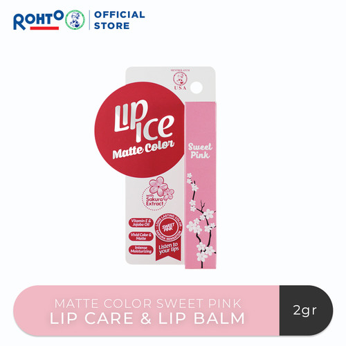 Foto Produk Lip Ice Matte Color Sweet Pink dari Rohto-Official-Store