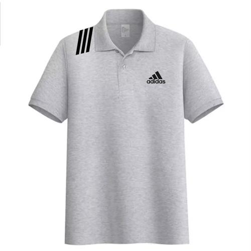 Foto Produk Kaos Kerah Pria Premium / Kaos Polo Shirt Adidas / Size M-L-XL-XXL - Abu-abu, M dari M&Hfashion