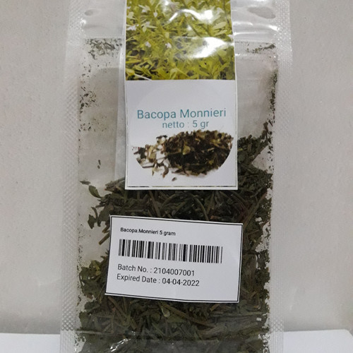 Foto Produk Herbal Anti Stress Tidur Nyenyak Anti Lupa- Bacopa Monnieri Teh(5gram) - 5 Gram dari energzewatercom