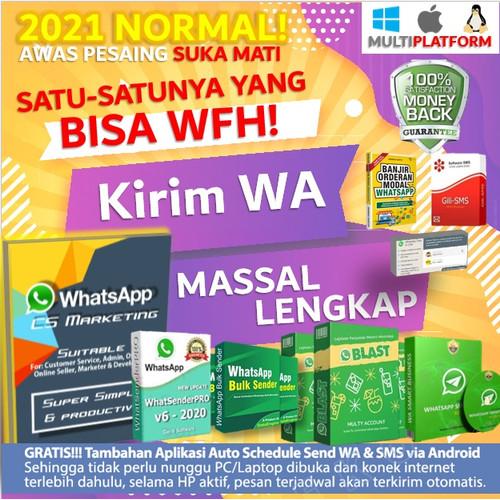 Foto Produk Software Kirim Whatsapp Massal Aplikasi WA Bulk Sender Blaster Sender - DVD Pack dari Toserba Smart