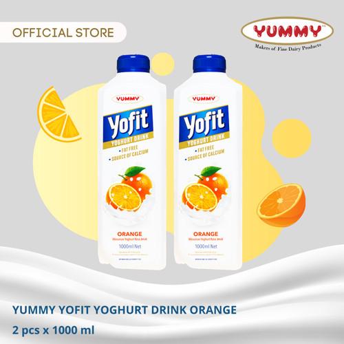 Foto Produk Yummy Yofit Yoghurt Drink Orange 2 x 1 Liter dari YUMMY Dairy