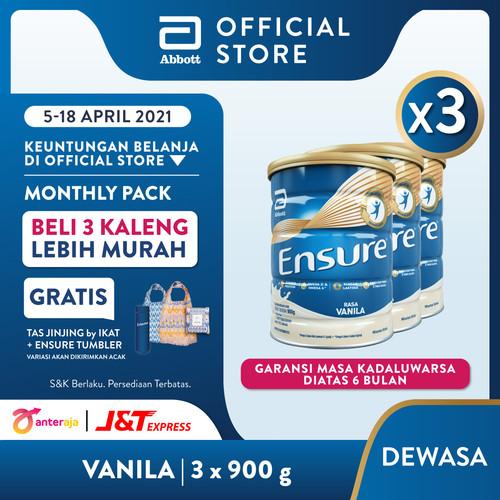 Foto Produk Ensure Vanila 900 g Susu Nutrisi Dewasa Rendah Laktosa - 3 klg dari Abbott Official Store