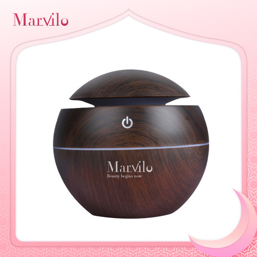 Foto Produk Marvilo Humidifier Pelembab Ruangan Bentuk Bulat Dengan Aksen Kayu dari Marvilo Official Store