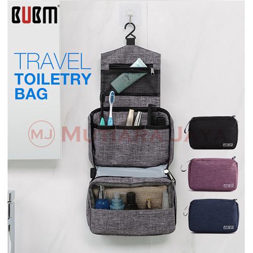 Foto Produk BUBM Tas Travel Peralatan Mandi dan Make Up Toiletry Pouch - Hitam dari TB.Mutiara Jaya