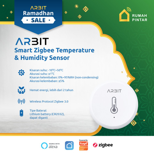 Foto Produk ARBIT - Zigbee Smart Temperature and Humidity Sensor TUYA dari ARBIT Official Store