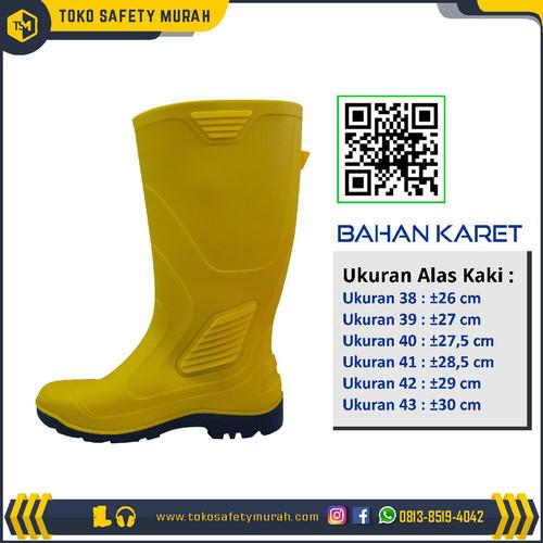 Foto Produk Sepatu boot AP terra eco 3 / eco 3 kuning karet tinggi anti air- Murah dari Toko Safety Murah