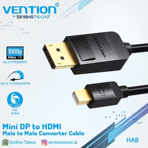 Foto Produk Vention [HAB 1.5M] Kabel Converter Mini DP / Thunderbolt2 to HDMI Male dari VENTION by SinsheTekno