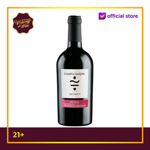 Foto Produk Red Wine Luccarelli Campo Marina Primitivo Merlot Puglia dari Waroeng Wine GS