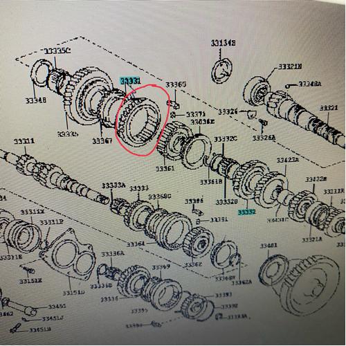 Foto Produk Gear Reverse-Sleeve transmisi yaris gigi 1-2 original dari JABA MOTOR TOYOTA