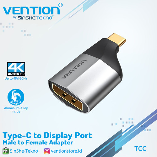 Foto Produk Vention USB C Type C to DP Display Port Converter Adapter - TCC dari VENTION by SinsheTekno
