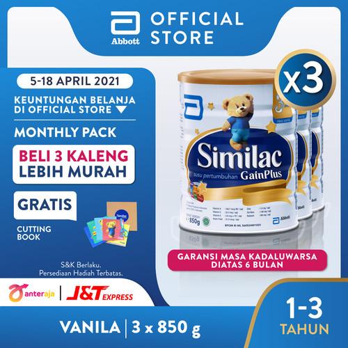 Foto Produk Similac GainPlus 850 g (1-3 tahun) Susu Pertumbuhan - 3 klg dari Abbott Official Store