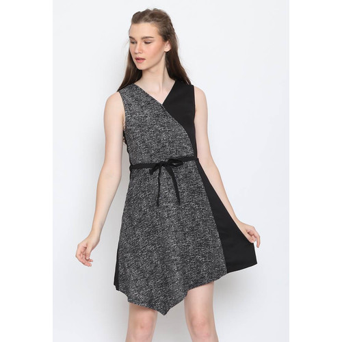 Foto Produk Voerin Carlene Combi Dress Wanita - S, Hitam dari Voerin Official
