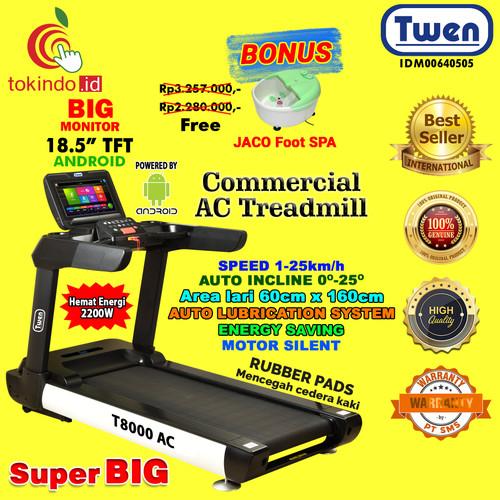 Foto Produk Alat Fitness Treadmill Commercial Elektrik Murah Twen T8000AC/Treadmil dari TOKINDO ID