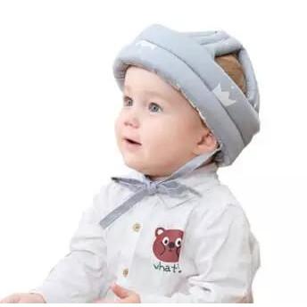 Foto Produk BANTAL PELINDUNG KEPALA BAYI TOPI PELINDUNG BAYI l BABY HEAD PROTECTOR - Abu-abu dari Bernique Shop