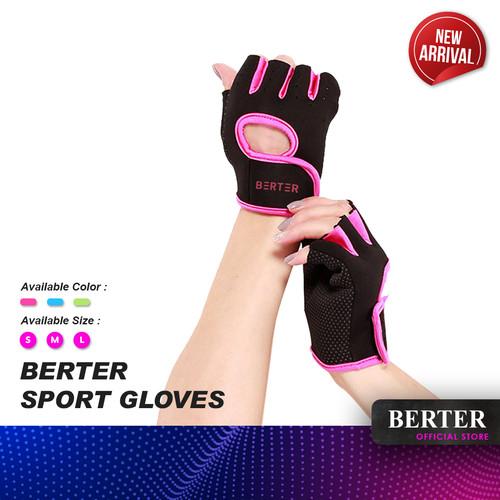 Foto Produk BERTER Sport Gloves Sarung tangan Fitness Gym Sepeda anti-selip - L, Gray Fruit Gree dari Berter Indonesia