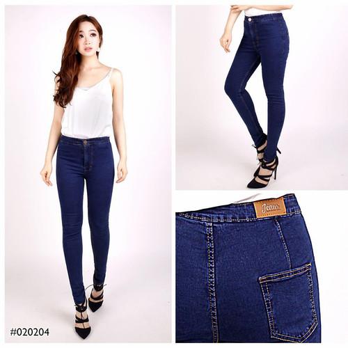 Foto Produk Celana Panjang Wanita Model High Waist Skinny Jeans Cewek TRENDY - Biru, 28 dari Glorious Jeans