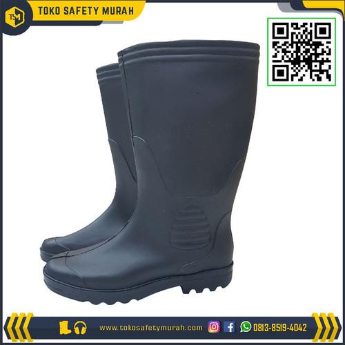 Foto Produk Sepatu Boot Forli Hitam Dove Boots Lentur Karet Ukuran Besar Anti Air dari Toko Safety Murah