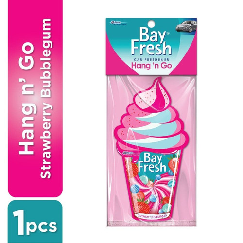 Foto Produk Bay fresh Hang N Go Pengharum Mobil gantung Strawberry Bubblegum dari Toko Chanz