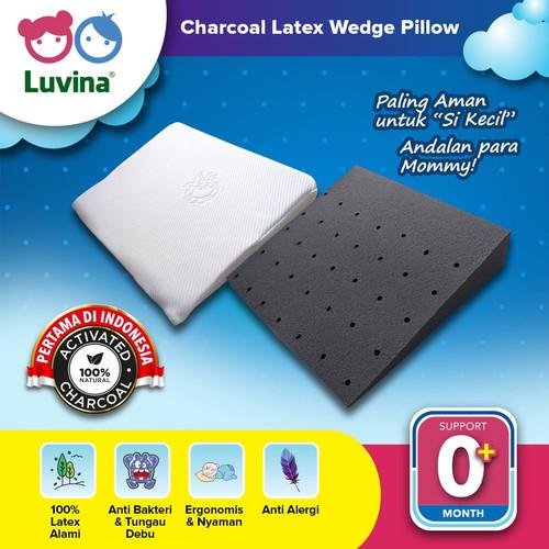Foto Produk Luvina Charcoal Latex Baby Wedges Pillow / Bantal Santai Baby Latex dari Luvina Indonesia Sehat