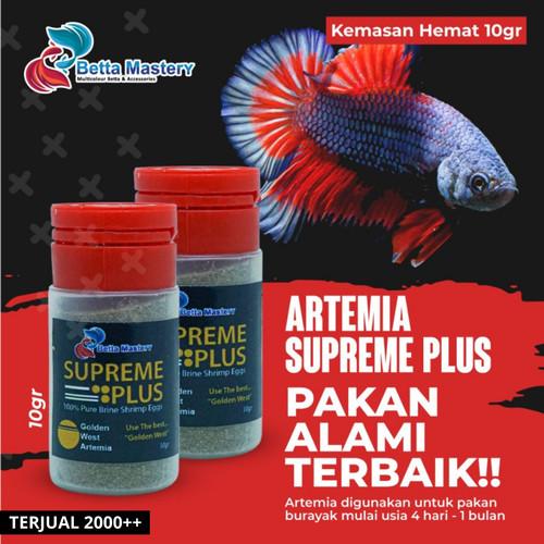 Foto Produk Artemia Golden Supreme Plus repack 10gr / 10 gr gram Asli hemat dari Ikan Cupang | BETTA MASTERY