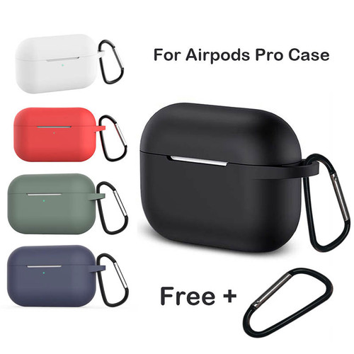Foto Produk Silicone Case Cover for Airpods Pro with Keychain - Air Pods 3 Casing - Hitam dari Logay Accessories
