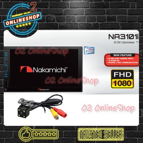 Foto Produk Nakamichi NA3101i Deckless Tape bluetooth Autolink Mp5 Paket kamera dari O2 OnlineShop