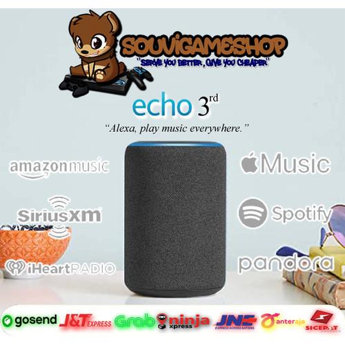 Foto Produk ALL NEW - AMAZON ECHO 3rd Gen Generasi 3 Smart speaker with Alexa dari souvigameshop