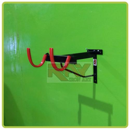 Foto Produk Gantungan sepeda di tembok - Hitam Plat T dari yusup rr